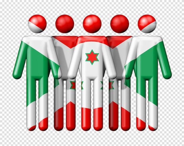 Bandeira do burundi em bonequinhos