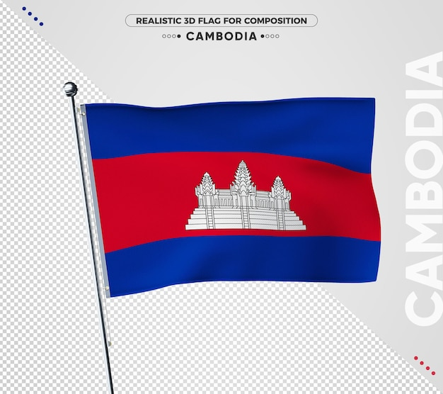 Bandeira do camboja isolada