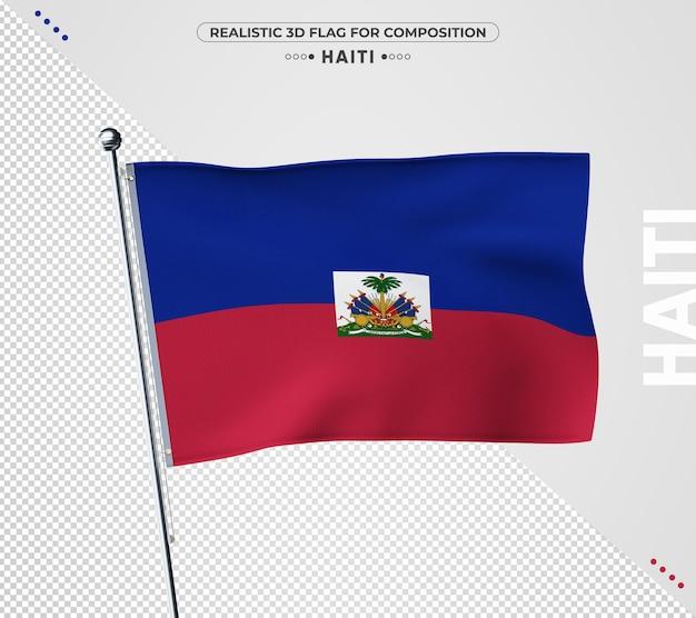 Bandeira do haiti com textura realista
