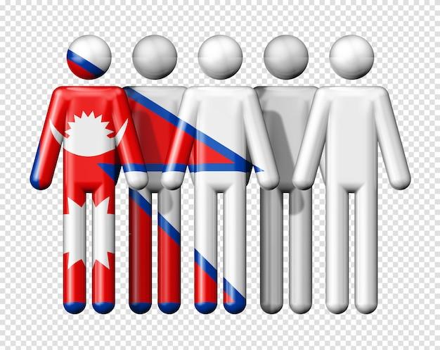Bandeira do nepal em bonequinhos