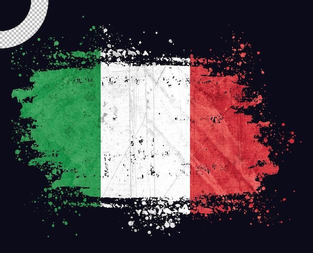 Bandeira vintage da itália com pincelada