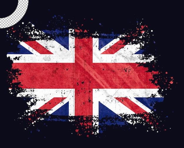 Bandeira vintage do reino unido com pincelada