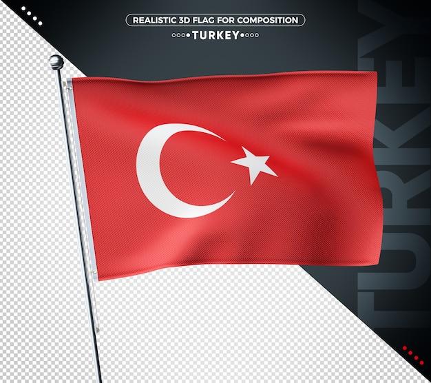 Bandeira yturke 3d texturizada para composição