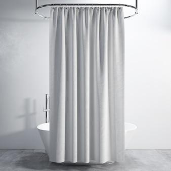 Banheira com cortina