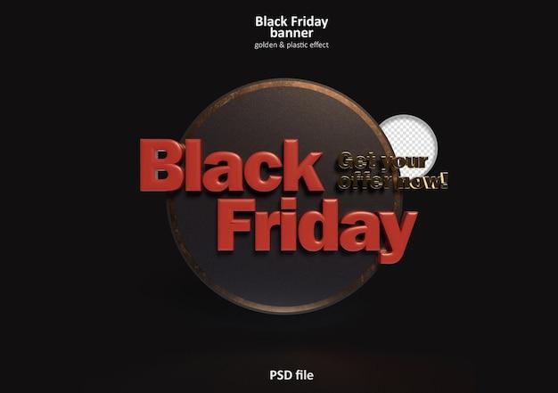 Banner 3d da black friday