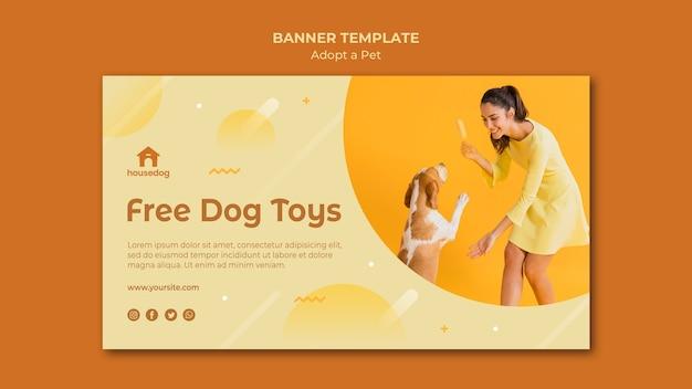 Banner adote um modelo de cachorro