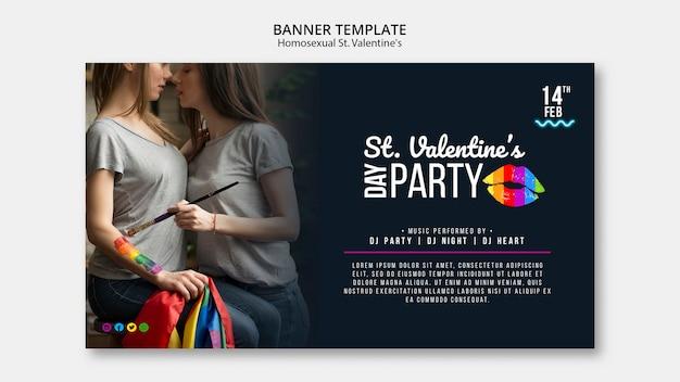 Banner colorido para st. festa lgbt do dia dos namorados com foto