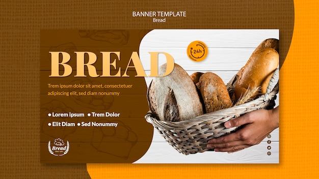 Banner com modelo de pão