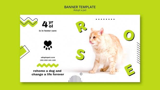 Banner com tema de adoção de animais de estimação