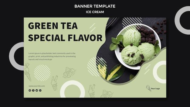 Banner com tema de sorvete