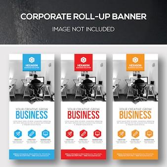 Banner corporativo de roll-up