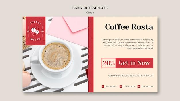 Banner criativo café