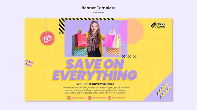 Banner da cyber monday com foto