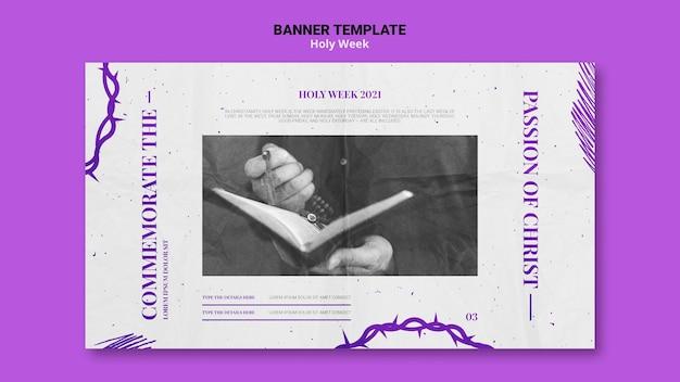 Banner da semana santa com foto