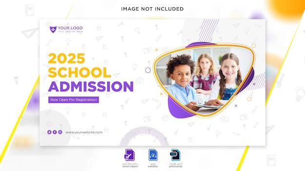 Banner da web de admissão escolar