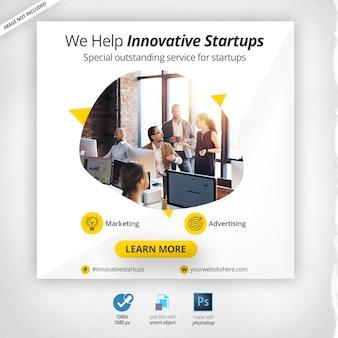 Banner da web de marketing de negócios