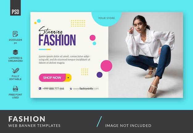 Banner da web de moda