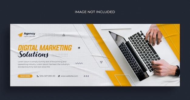 Banner da web do instagram para agências de marketing digital ou modelo de capa do facebook
