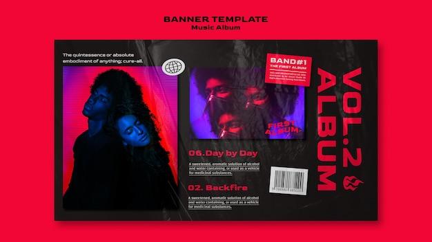 Banner de álbum de música