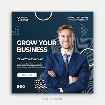 Banner de anúncios de marketing empresarial digital promoção de negócios e modelo de postagem de mídia social criativa