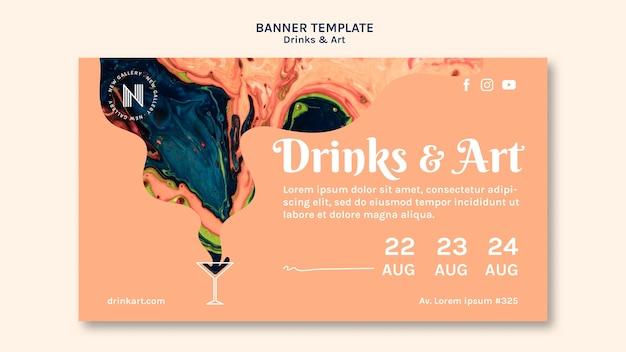 Banner de bebidas e arte