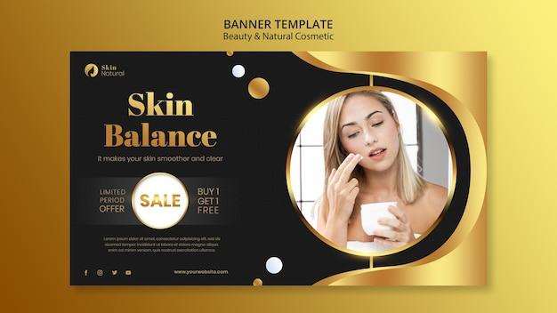 Banner de beleza e cosméticos naturais