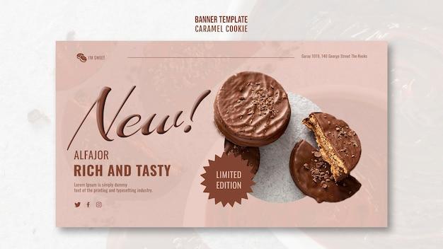 Banner de biscoitos de caramelo