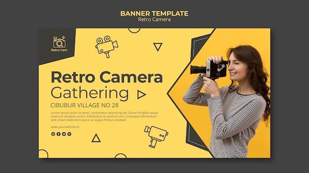 Banner de câmera retrô