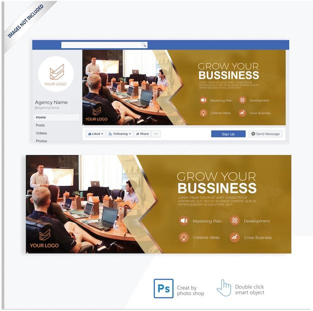 Banner de capa de facebook de marketing de negócios