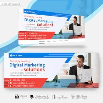 Banner de capa de facebook de negócios de marketing