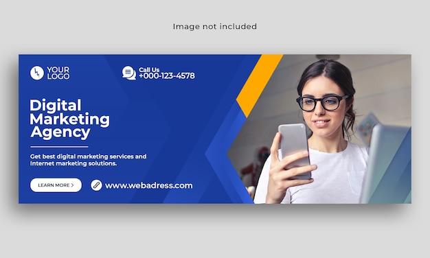 Banner de capa do facebook de marketing digital