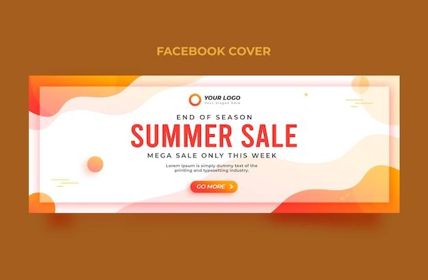 Banner de capa do facebook de venda de verão