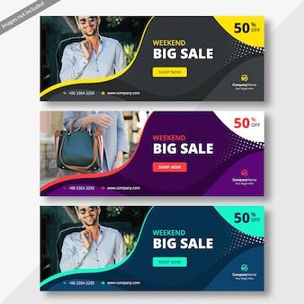 Banner de capa do facebook de vendas