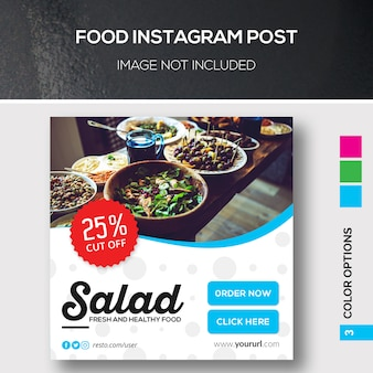 Banner de comida ou instagram post