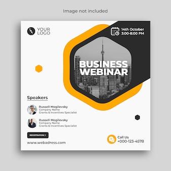 Banner de conferência webinar de negócios de marketing digital
