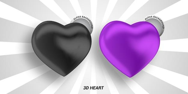 Banner de coração 3d