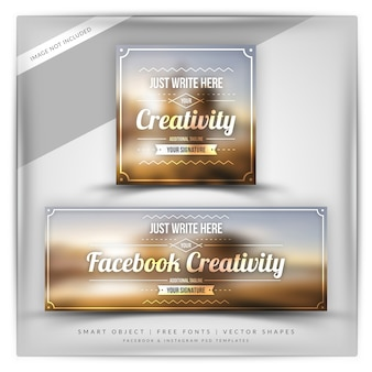 Banner de criatividade do instagram e do facebook