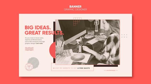 Banner de designer gráfico