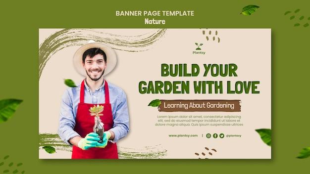 Banner de dicas de jardinagem