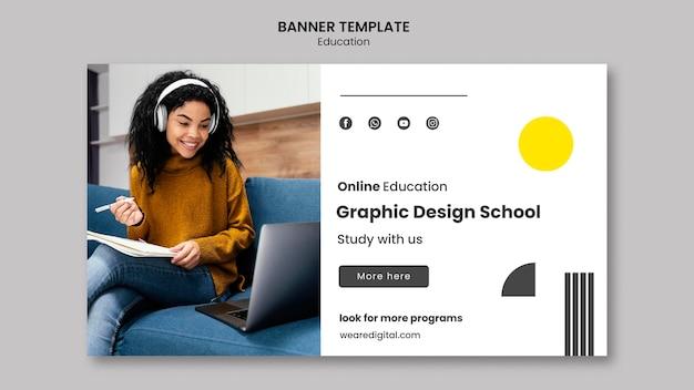 Banner de escola de design gráfico