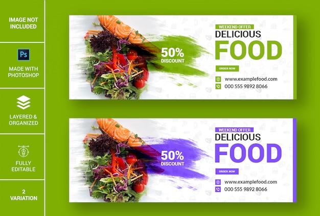 Banner de facebook de comida deliciosa
