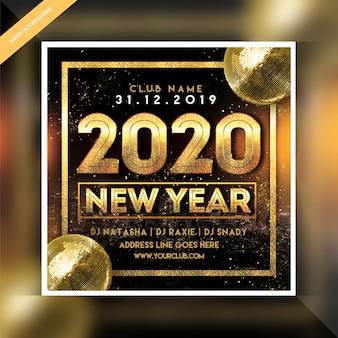 Banner de festa de ano novo de 2020