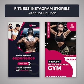 Banner de histórias do instagram de fitness e ginásio