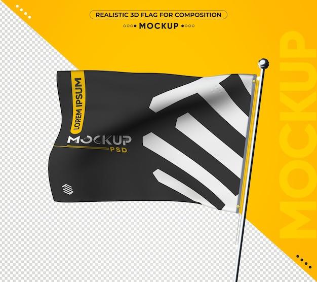 Banner de maquete 3d realista para composição