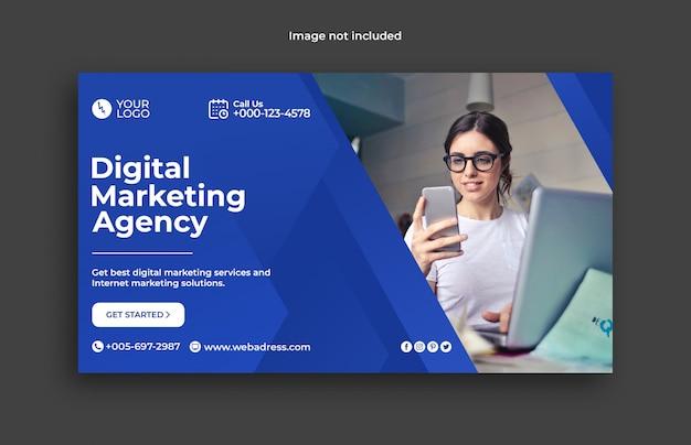 Banner de marketing digital empresarial