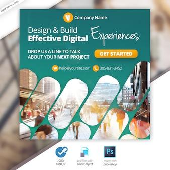 Banner de mídia social da web de marketing de negócios