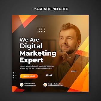 Banner de mídia social de marketing digital modelos pós-psd promocionais do instagram