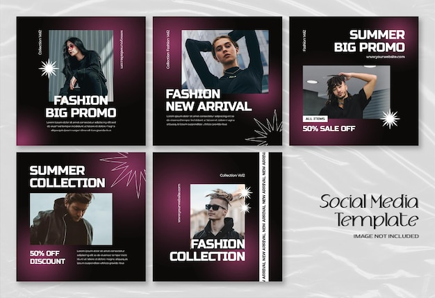 Banner de mídia social de moda de verão moderno e modelo de postagem no instagram