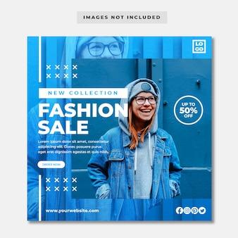 Banner de mídia social de moda moderna