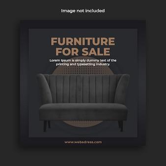Banner de mídia social de venda de móveis